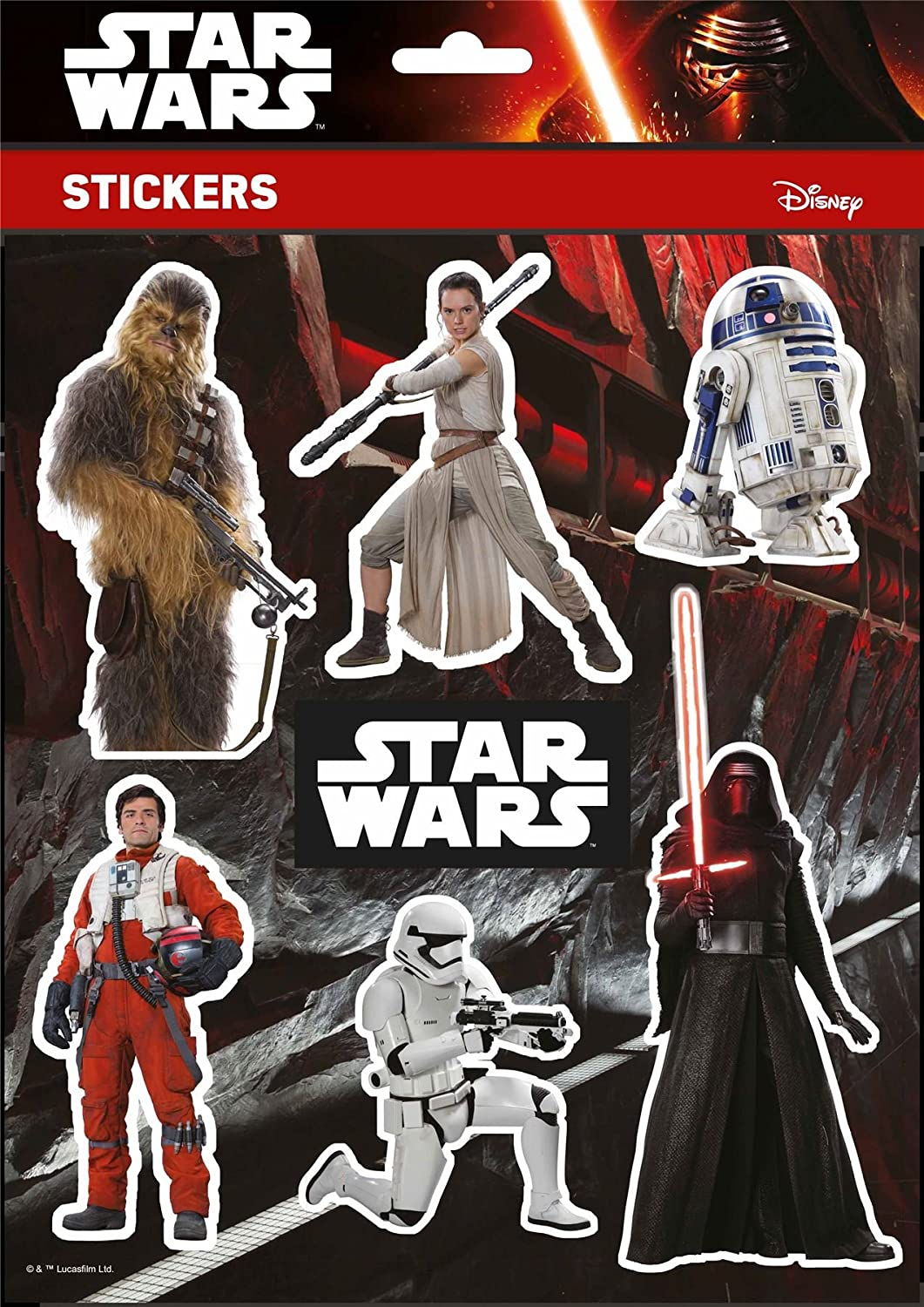 DISNEY Character Star Wars customising stickers The Force Awakens Dark Vador