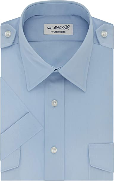 BRAND NEW With Tags Light Blue Short Sleeve Pilot Shirt