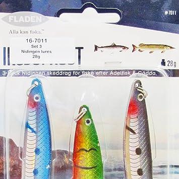 Fladen 3 x Nidingen Spinning Hundimiento Lento Señuelos de Pesca ...