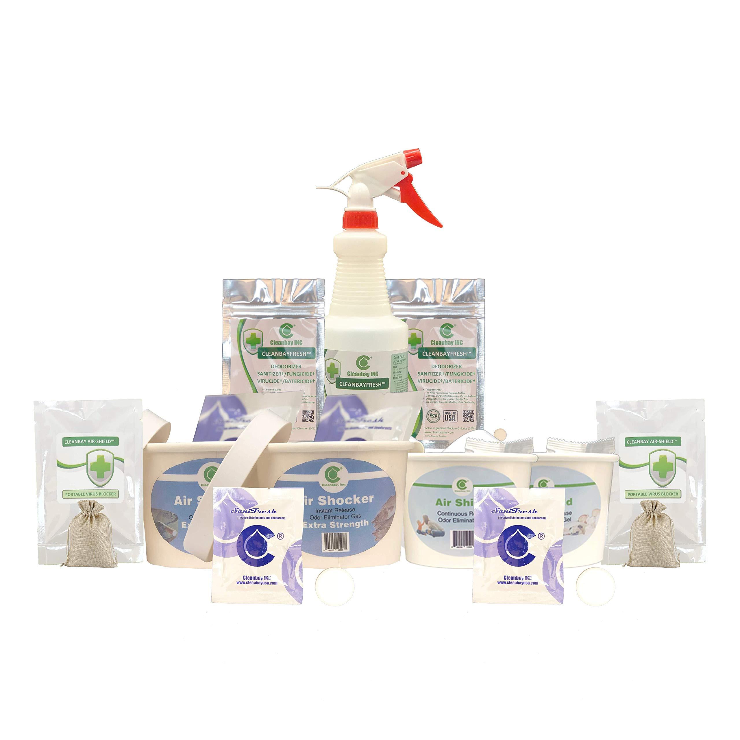 #1 Most Effective Odor Eliminator & Air Freshener - Effective Commercial Deodorizer   Professional Odor Eliminator   Eliminate Odors at The Source   11-Piece Bundle