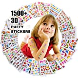Stickers for Kids 1500+, 20 Different Sheets, 3D Puffy Stickers, Scrapbooking, Bullet Journals, Stickers for Adult, Including Animals, Fishes, Stars, Cakes, Plants, and Tons More