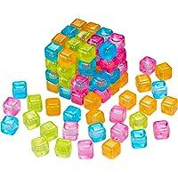 Relaxdays 10027873 IJsblokjes herbruikbaar, feestijsblokjes voor dranken, kunststof, Meerkleurig, 100 stuks