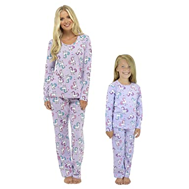 Ladies Girls Pyjamas PJ s Women Twosie Pajama Set - Mum   Daughter Matching  Pajamas Sets ( c0425328b