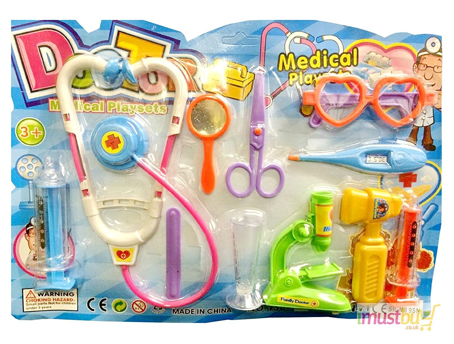 iMustbuy Pretend and Play Doctor Set Childrens Kids Medical Kit Set Doctor Nurse Dress Up Role Play Fun Toy Gift One Size