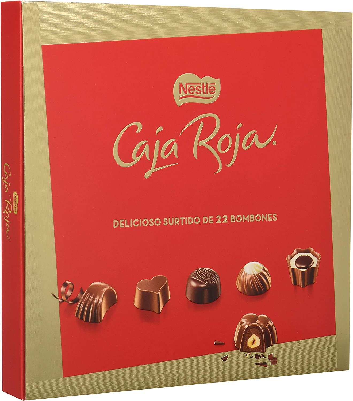 NESTLÉ CAJA ROJA Bombones de Chocolate - Estuche de bombones 200 g