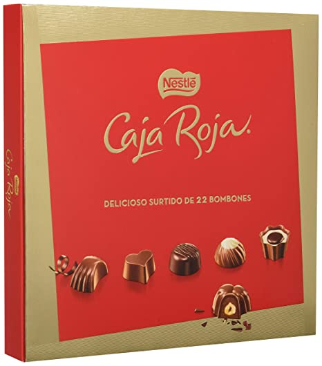 NESTLÉ CAJA ROJA Bombones de Chocolate - Estuche de bombones 200 g ...