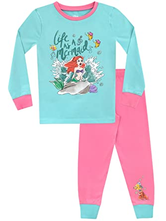 Disney Girls The Little Mermaid Pajamas Size 2T Multicolored