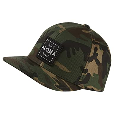 save off b34ee 49fa5 Hurley Mens Aloha Cruiser Hat AH5946, Camo Green, OFA