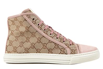 d8c45528cf7 Gucci women s shoes high top trainers sneakers softy tech pink UK size 8  284882 F6B90 9784