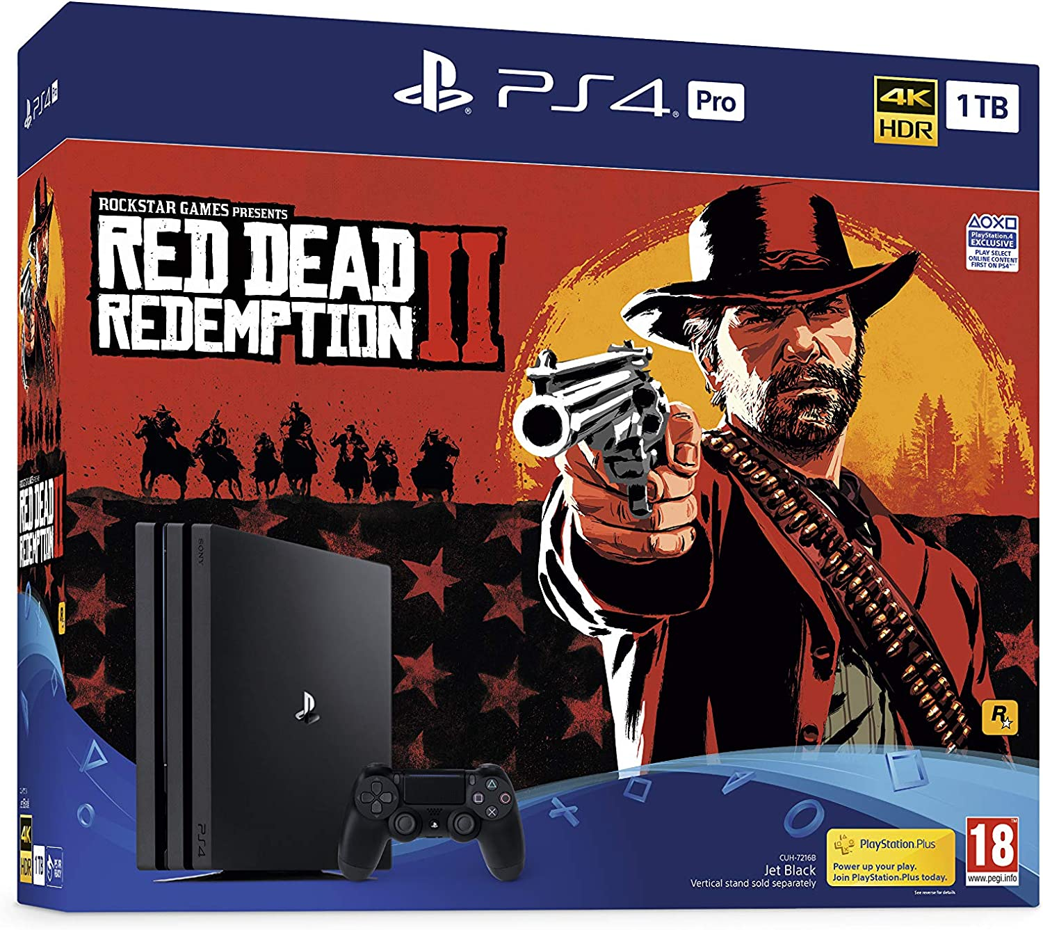 Sony PlayStation 4 Pro (1TB) Console with Red Dead Redemption 2 Bundle [Importación inglesa]: Amazon.es: Videojuegos