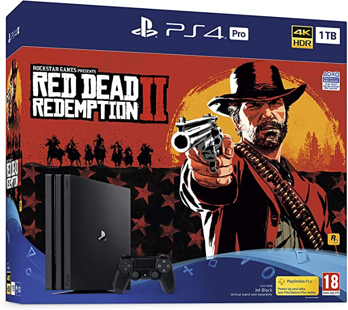 Sony PlayStation 4 Pro (1TB) Console with Red Dead Redemption 2 ...