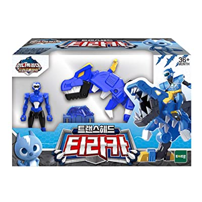 MINI FORCE Miniforce Trans Head Tyraka Super Dinosaur Tyrannosaurus Power Action Figure Toy: Toys & Games