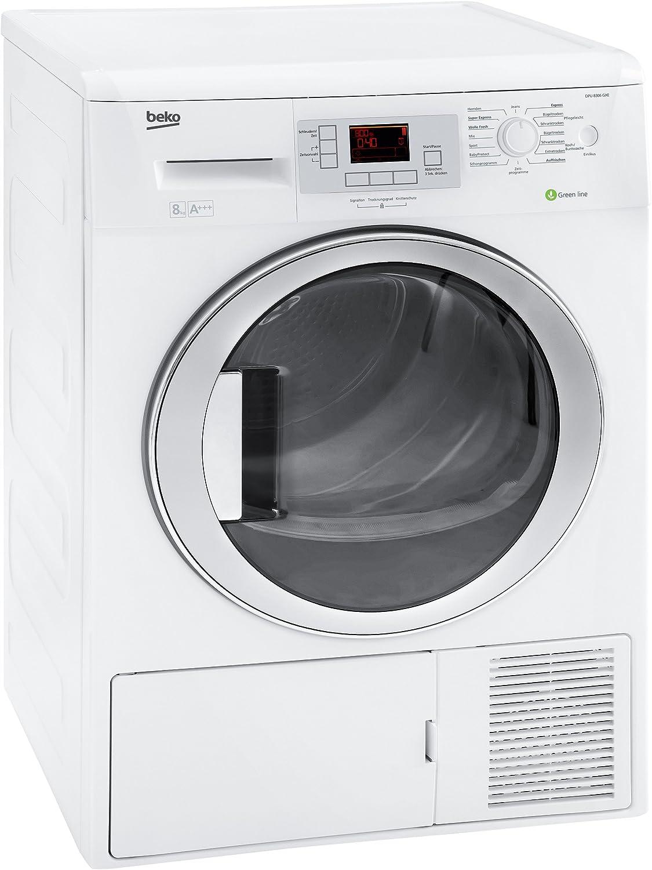 Beko DPU 8306 GXE - Secadora (Independiente, Frente, Condensación, 8 kg, A, Algodón, Delicado/seda, Jeans/denim, Mezclar, Rápido, Camisa/blusa, Sintético) Color blanco