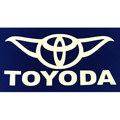 "Toyoda Star Wars Yoda Vinyl Car Decal Sticker White 5"": Automotive"