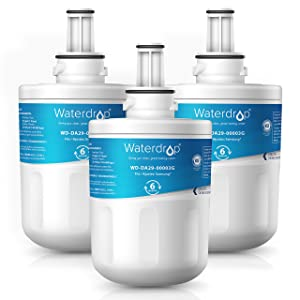 Waterdrop DA29-00003G Refrigerator Water Filter, Compatible with Samsung DA29-00003G, Aqua-Pure Plus DA29-00003B, HAFCU1, DA29-00003A, Standard, Pack of 3