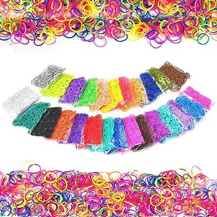 300 Pink Refill Bands for DIY Loom Bracelet Kit 24 S Clips Tool