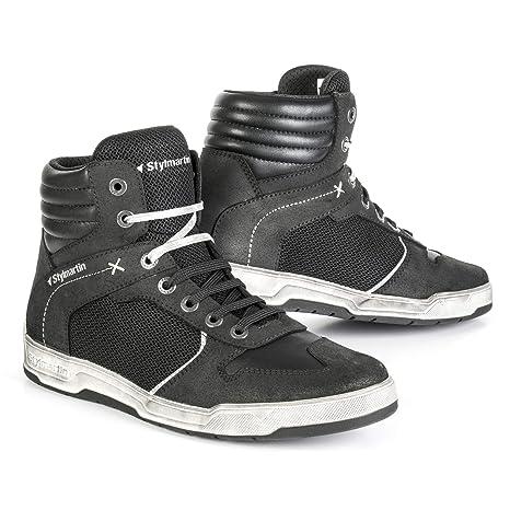 STYLMARTIN Motorradschuhe ATOM Sneaker Mesh schwarz mit Kn/öchelprotektoren Gr/ö/ße 42