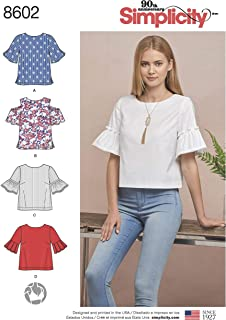 product image for Simplicity Sewing Pattern D0891 / 8602 - Misses' Tops in Two Lengths, H5 (6-8-10-12-14)