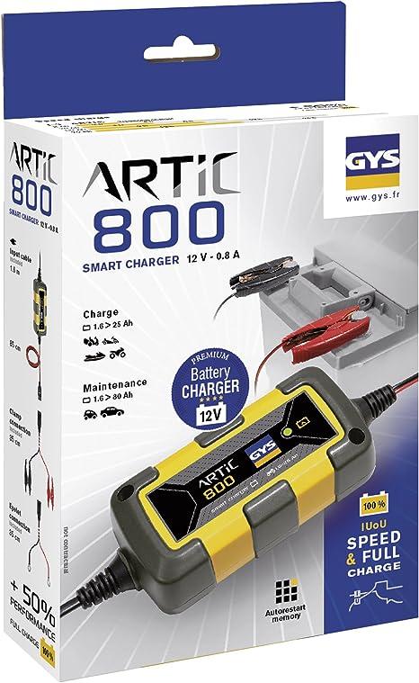 Gys 029569 Automatisches Ladegerät Speziell Für 12v Batterien Von Motorrädern Jet Ski Karts Oder Rasenmäher 800 Auto