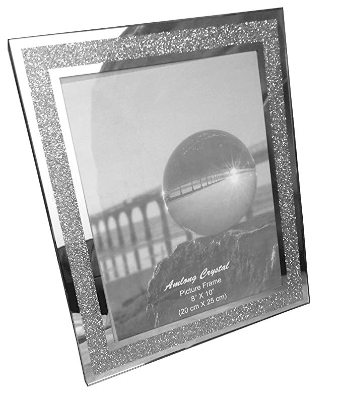 Amazon.com - Amlong Crystal Sparkle Mirror Picture Frame, 8 x 10 -