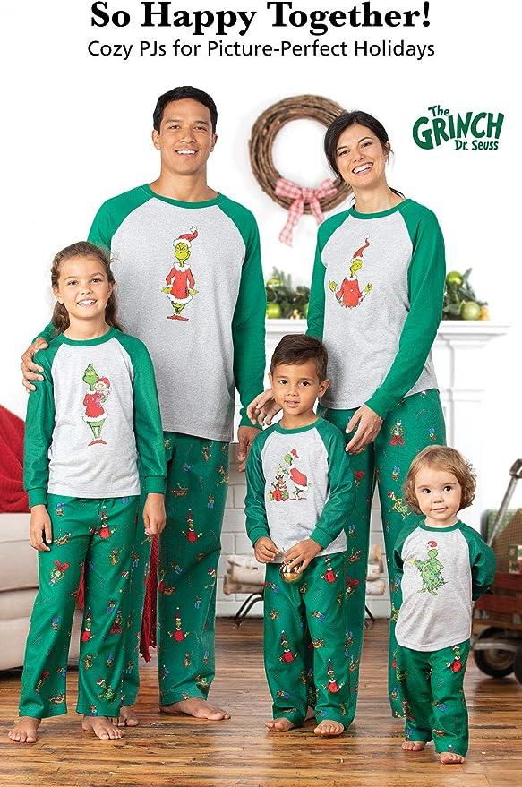 Family Christmas Pajamas Set PajamaGram Holiday Grinch Pajamas Soft Gray