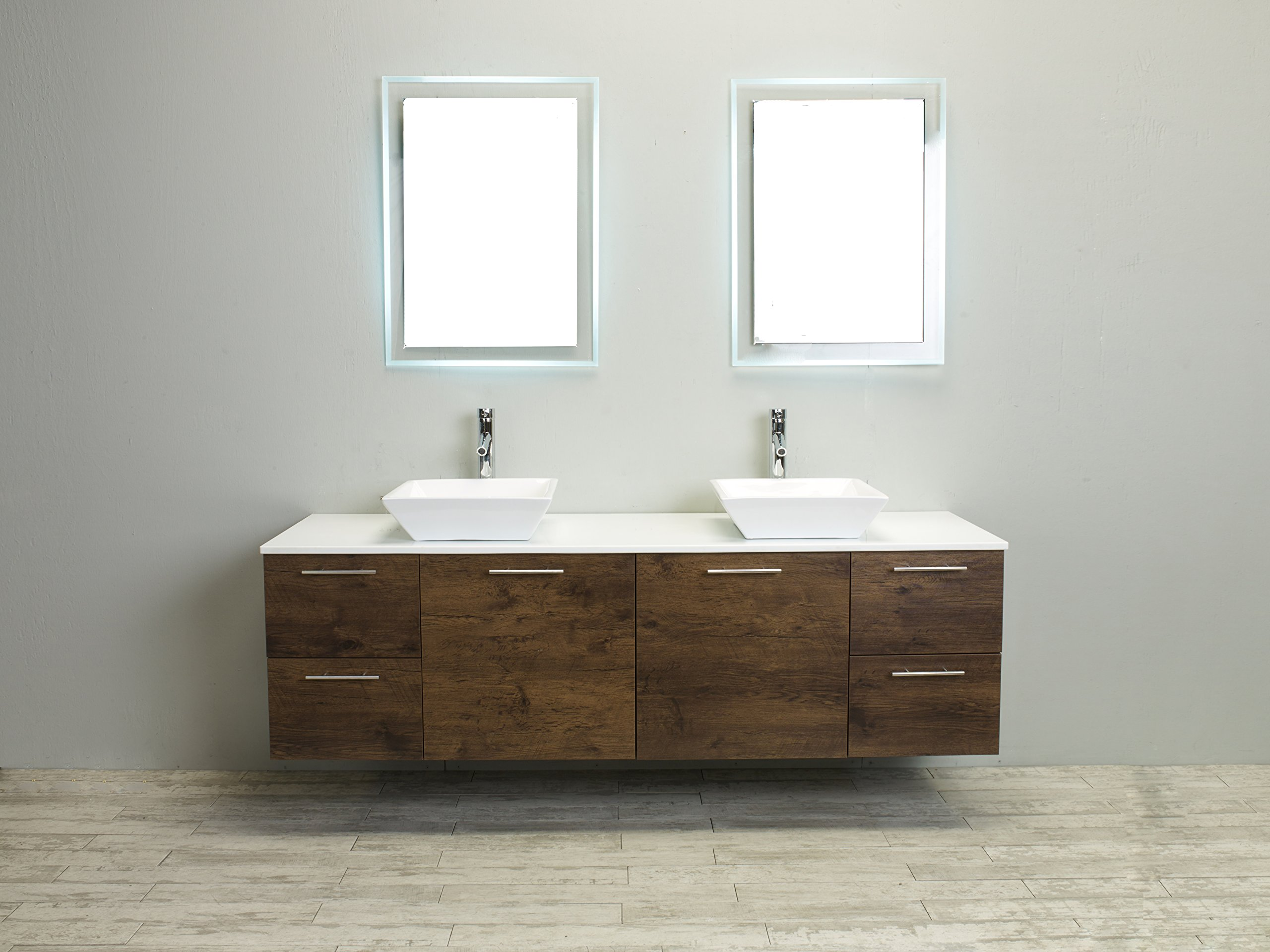 Eviva Luxury 72-inch Rosewood bathroom cabinet only by Eviva (Image #1)