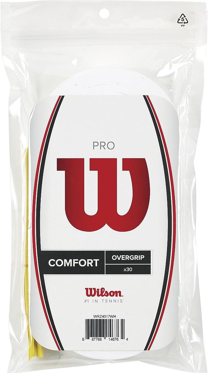 Wilson Pro Overgrip Empuñadura, 30 unidades, unisex, blanco ...