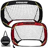 Soccer Goals, Training Soccer Goal Nets Set of 2 Soccer Goals for Backyard and Team Games Compact Carry Bag w/Mesh Bag for So