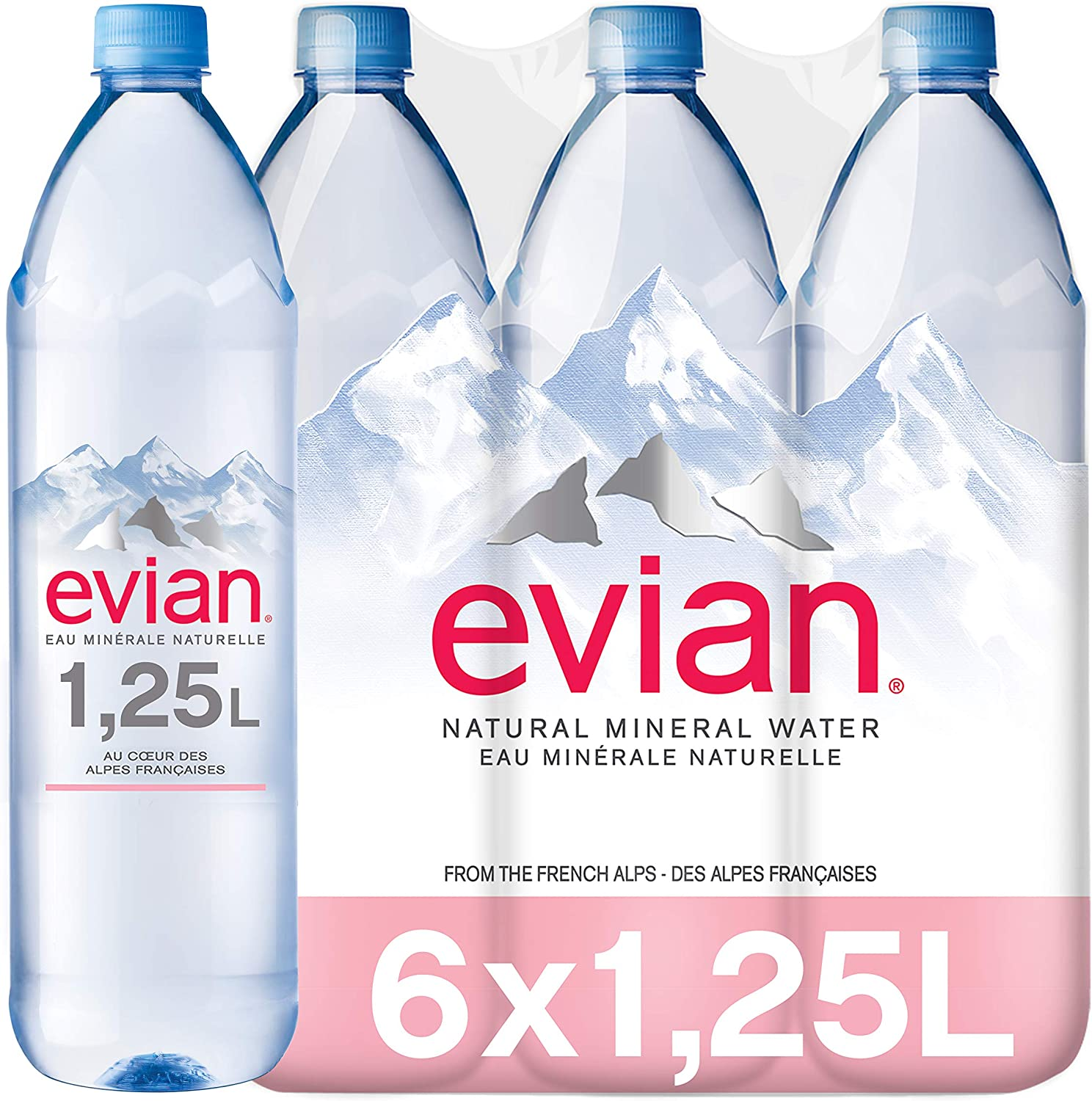 Evian Essence Agua Mineral Natural - Paquete de 6 x 1250 ml - Total: 7500 ml: Amazon.es: Alimentación y bebidas