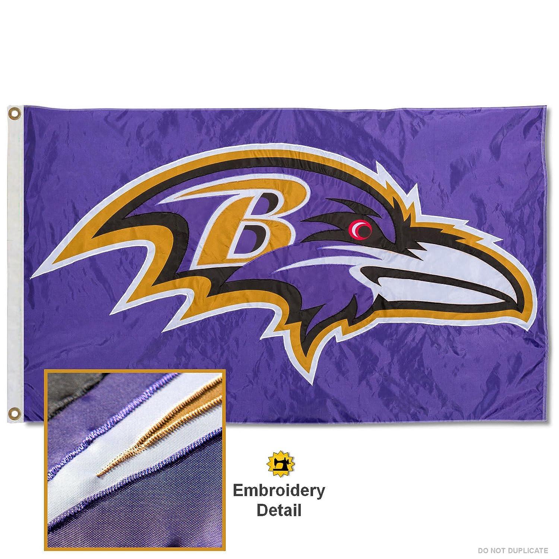 Baltimore Ravens刺繍ナイロンフラグ   B074Q7MVJ7