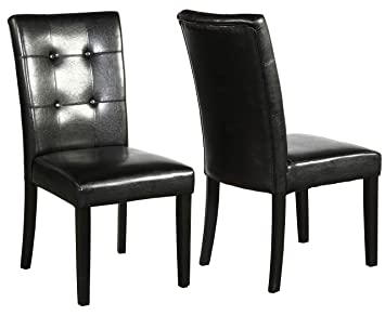 Astounding Amazon Com Btexpert Accent Faux Leather Dining Room Chairs Andrewgaddart Wooden Chair Designs For Living Room Andrewgaddartcom