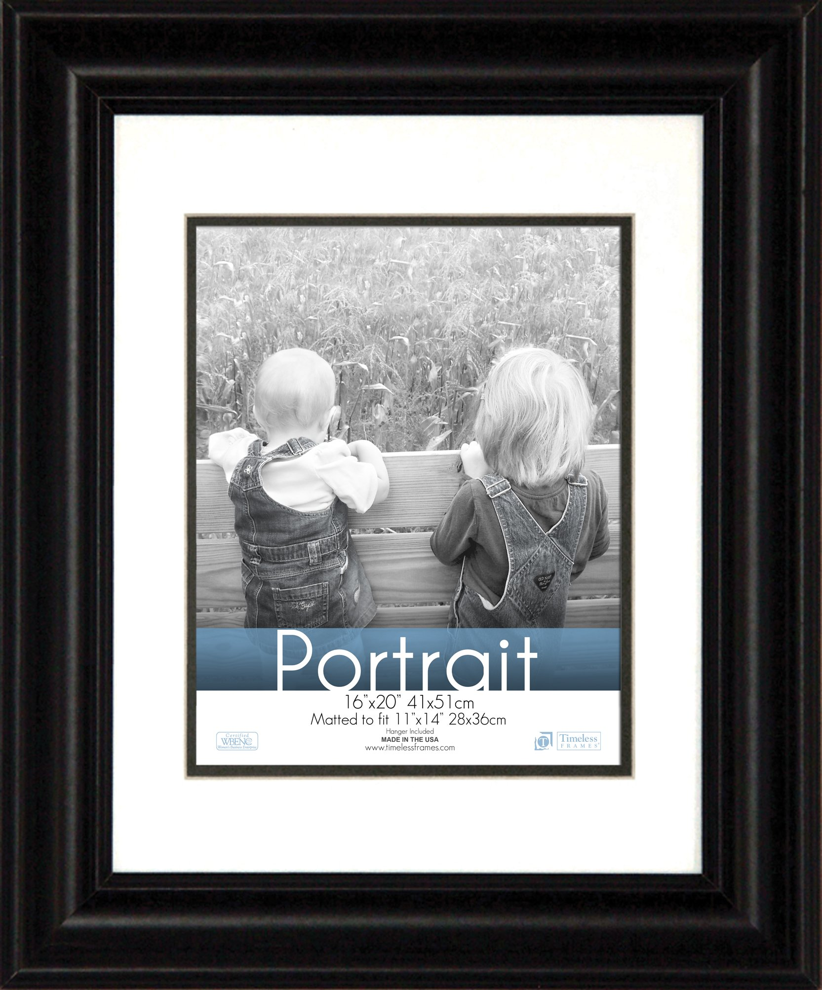 Timeless Expressions Photo Lauren Portrait Wall Frame, 16x20, Black by Timeless Expressions