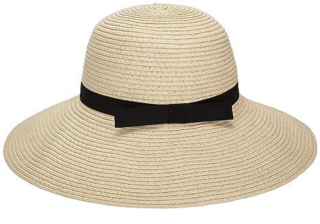 ac0fc5cf Janrely Women Floppy Sun Beach Straw Hats Wide Brim Packable Summer Cap ( Beige) at Amazon Women's Clothing store: