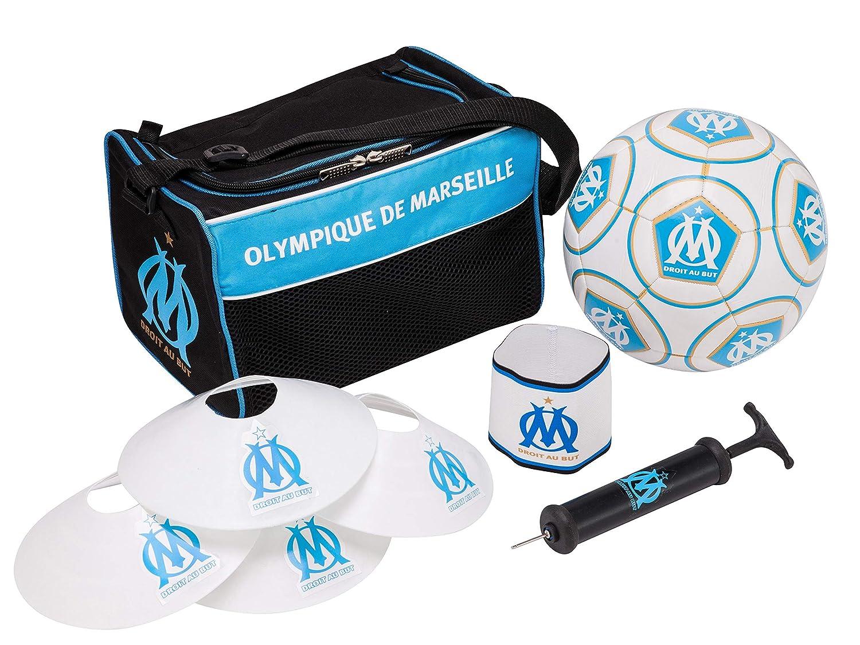 OLYMPIQUE DE MARSEILLE - Kit de Bolsa de balón de fútbol: Amazon ...