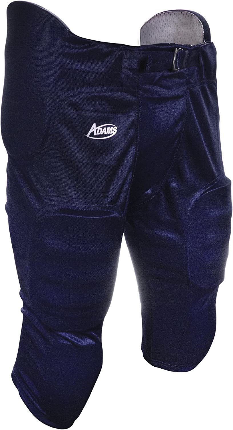 X-Small ADAMS USA Pro-Sheen Gameday Youth Football Pant with Integrated Pads Navy Blue