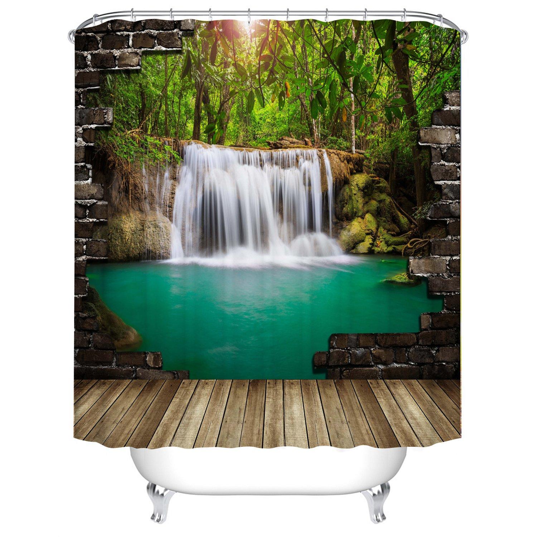 Qilerongrong Badezimmer Duschvorhang 12 Duschvorhangringe 180x180cm Top Qualit/ät Anti-Schimmel Duschvorh/änge Digitaldruck inkl