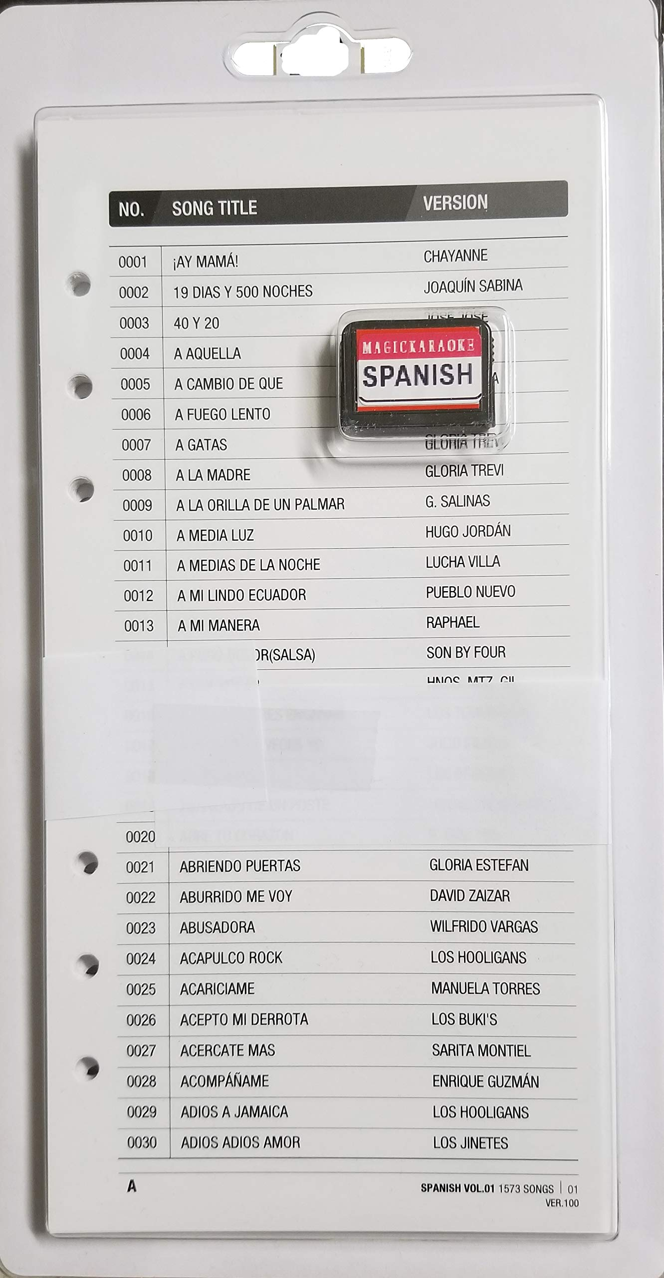 Magic Sing Leadsinger Karaoke Mic Spanish Songchip 1573 Songs Latin Spanish Songpack