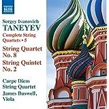 Taneyev:String Qtets 8 & 2 [Carpe Diem Quartet, James Buswell] [Naxos: 8573671]