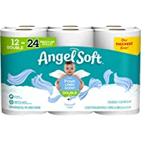 Angel Soft Toilet Paper with Fresh Linen Scented Tube, 12 Double Rolls, 214 2-Ply Sheets Per Roll