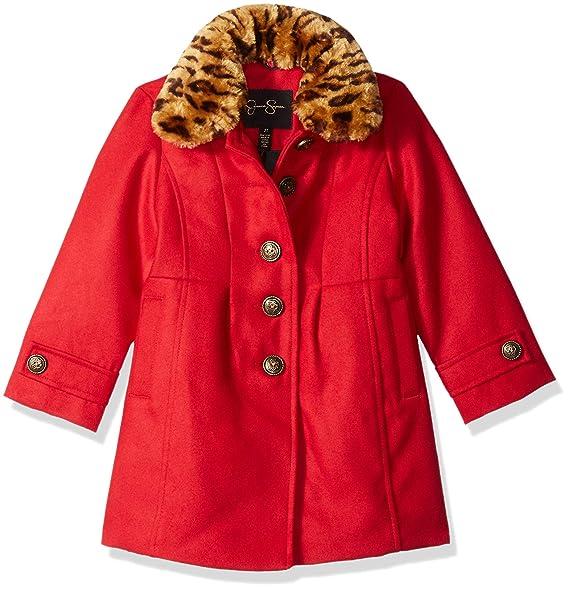 Jessica Simpson Girls Faux Wool Dress Coat