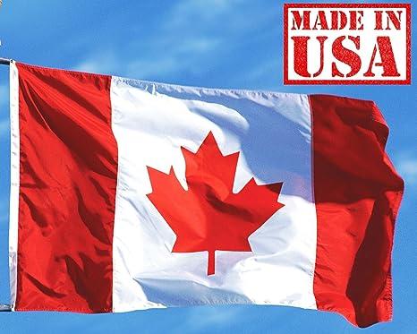 amazon com us flag factory 4 x6 canada canadian flag sewn