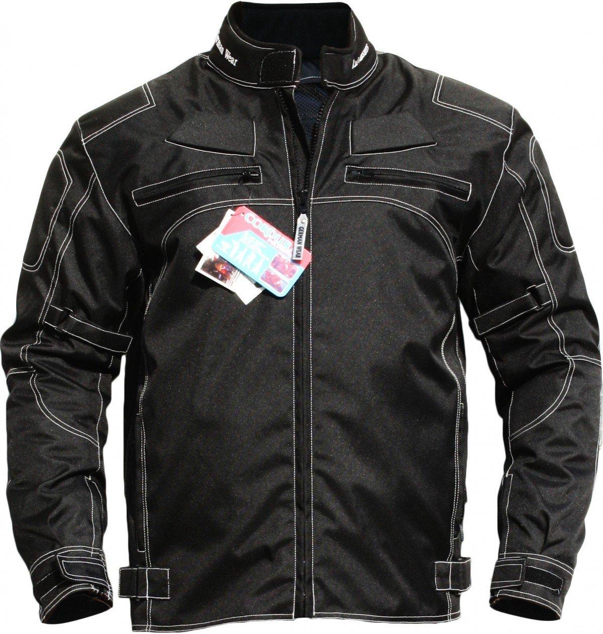 German Wear Motorradjacke aus Textilien, Schwarz, 50 German Wear GmbH GW310J