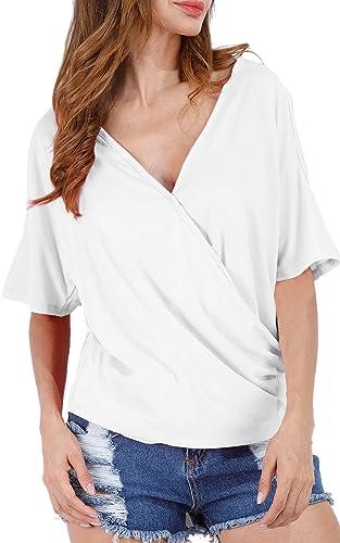 Angashion - Camiseta - para mujer