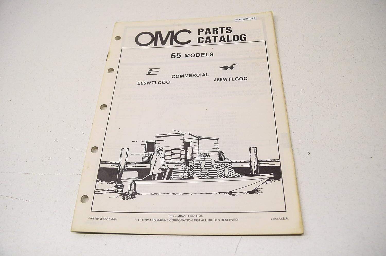 Omc 396562 Parts Catalog 65 Commercial Models E65wtlcoc Maybach Engine Diagram J65wtlcoc Qty 1 Automotive