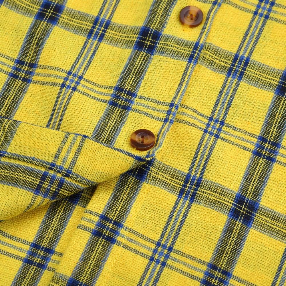 Women Long Sleeve Lattice Striped Shirt Daoroka Ladies Sexy V Neck Button Pocket Jumper Pullover Casual Loose Blouse Fashion Cute Autumn Winter Comfort Tunic T Tops by Daoroka Women Blouse (Image #4)