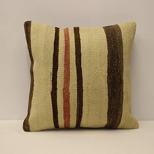 Red Pillow Pillow Cover 16x16 Antique Pillow Patterned Pillow Rug Pillow Kilim Ottoman Pillow 7989 Turkish Pillow Home Decor Pillow