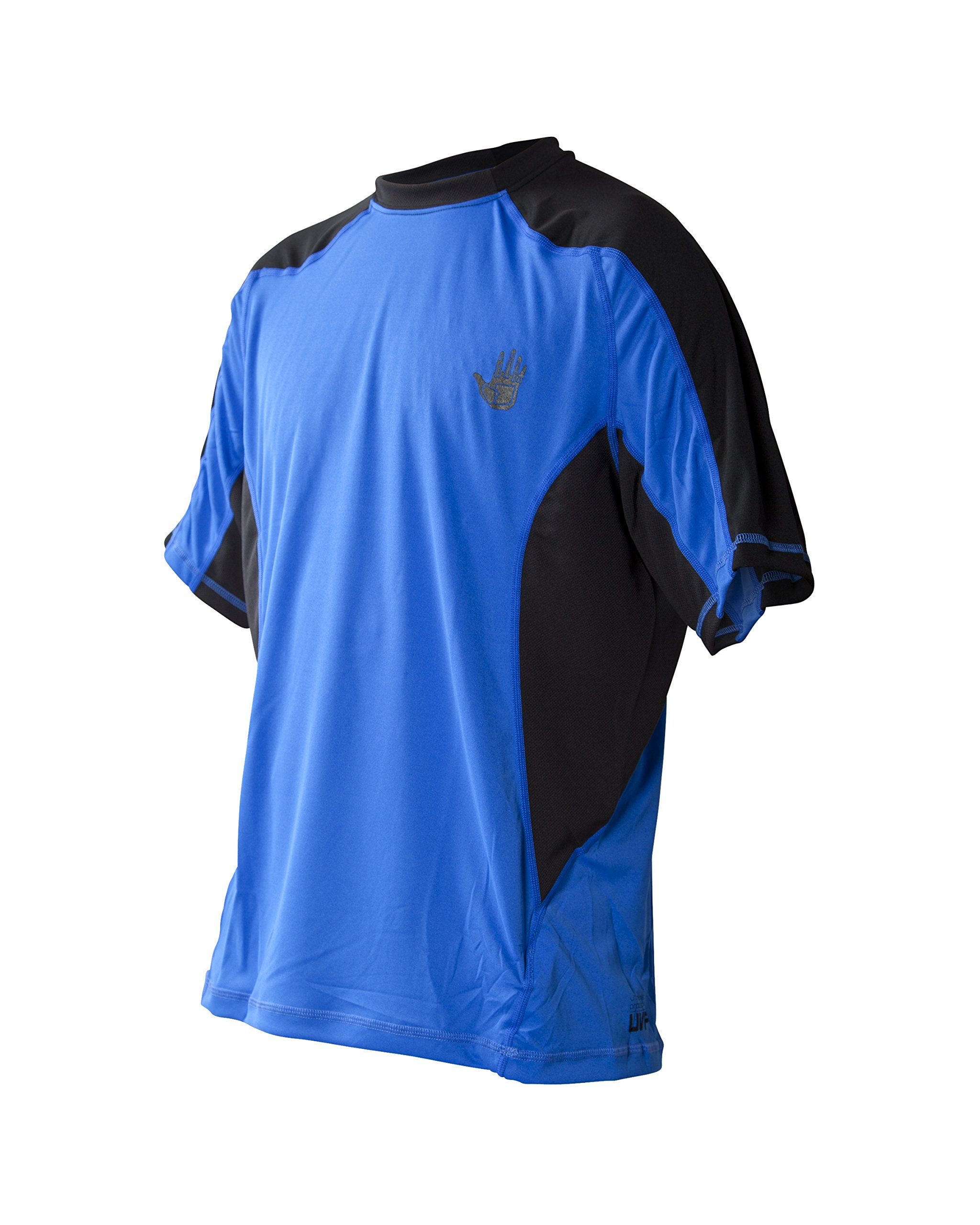 Body Glove Wetsuit Men's Performance Loose Fit Short Arm Shirt, Royal, X-Large