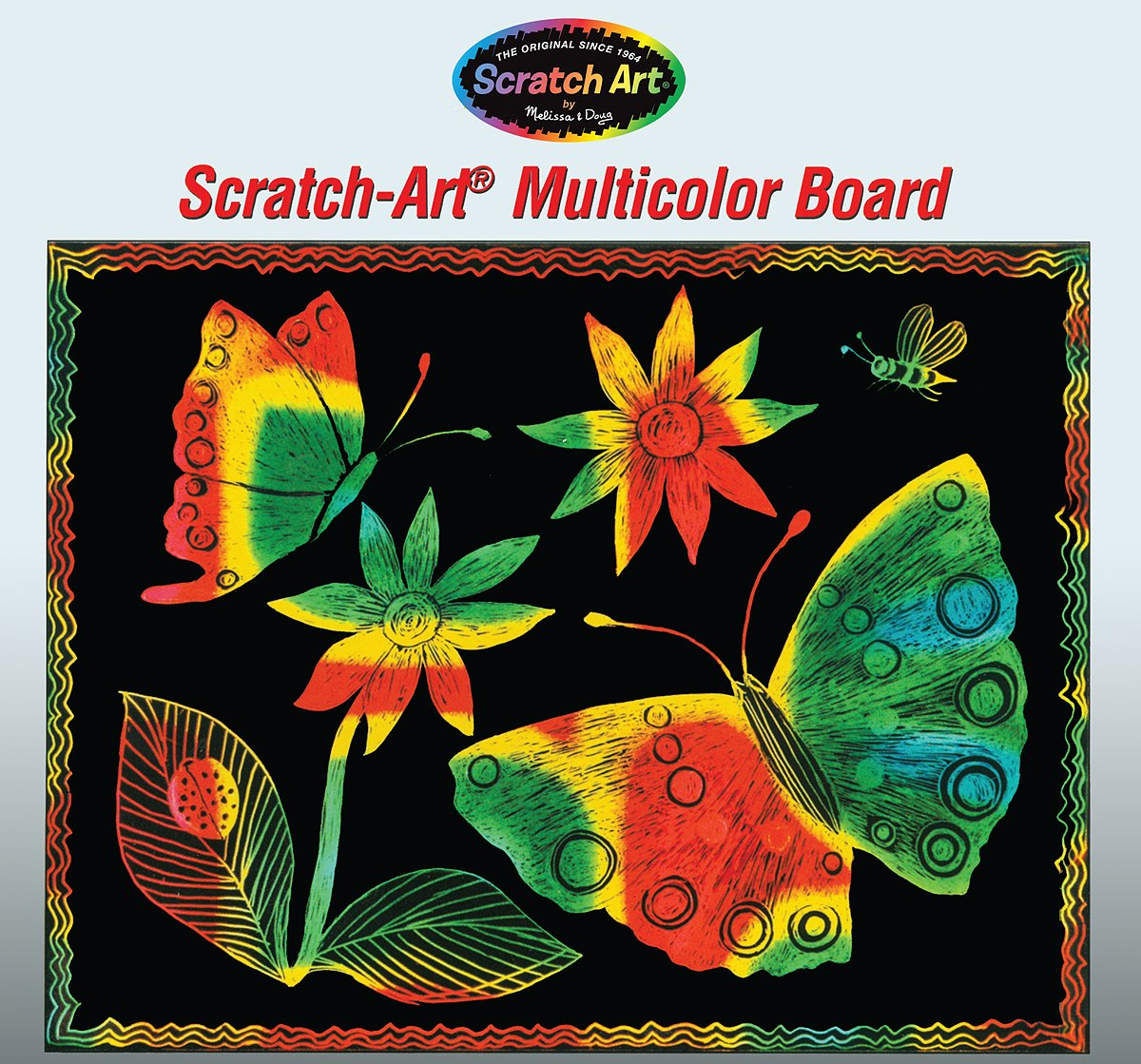 Melissa /& Doug Scratch Art Multicolor Boards 30 Black-Coated Multicolor Boards 8051