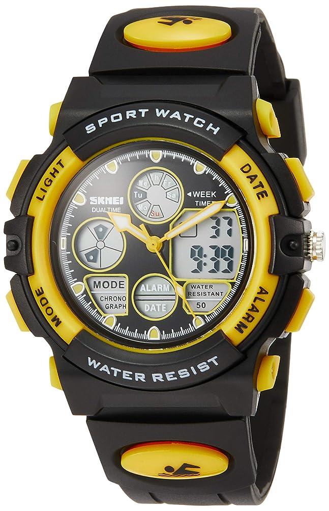 ほとんどの場合対話視聴者Hiwatch 子供 腕時計 防水 デジタル表示 アナデジ式 アラーム スポーツウォッチ HI-003GR【Web日本語取扱説明書あり】 (グリーン)
