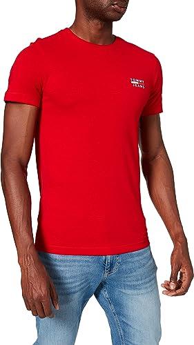 TALLA XL. Tommy Jeans TJM Chest Logo tee Camiseta para Hombre